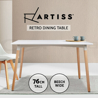AU154.95 • Buy Artiss Dining Table 6 Seater Replica DSW Eiffel Cafe Kitchen White 120cm