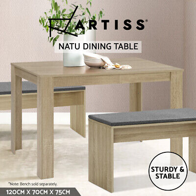 AU79.95 • Buy Artiss Dining Table 4 Seater Wooden Kitchen Tables Oak 120cm Cafe Restaurant
