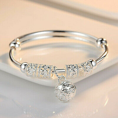 $1.99 • Buy Fashion Women Jewelry 925 Sterling Silver Plated Cuff Bracelet Charm Bangle Gift