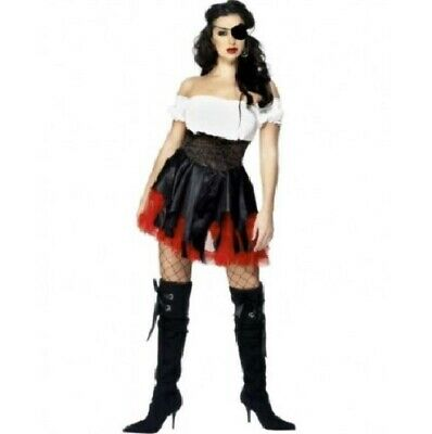 Ladies Pirate Wench Fancy Dress Costume Womens Outfit By Smiffys • 12.99£
