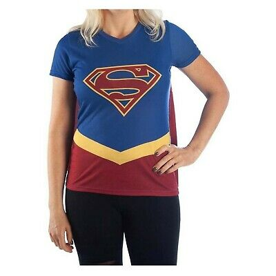 £23.26 • Buy Supergirl Caped Costume Women's T-Shirt Blue