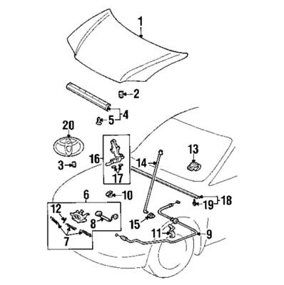 $61.72 • Buy For Toyota Genuine Hood Latch Front 5351052130
