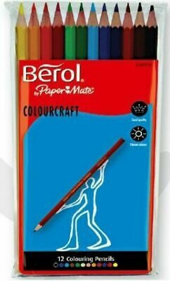£2.50 • Buy Berol Colour Craft Pencil - Assorted Colours (Pack Of 12)