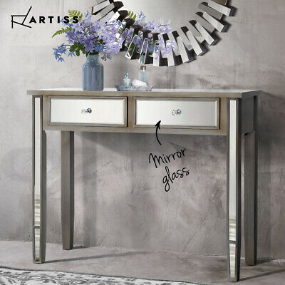 AU229.90 • Buy Artiss Mirrored Furniture Dressing Console Table Hallway Hall Drawers Sideboard