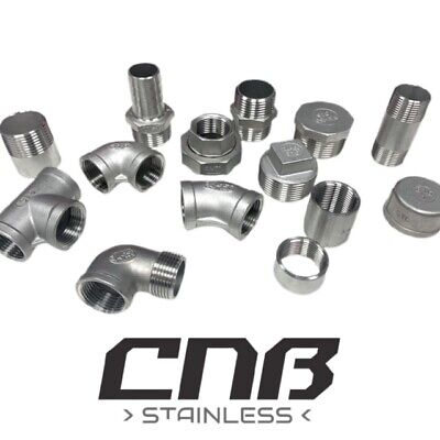 BSP Pipe Fittings Stainless Steel 316 A4 Grade 150lb  1/8  To 4   Free Delivery. • 7.07£
