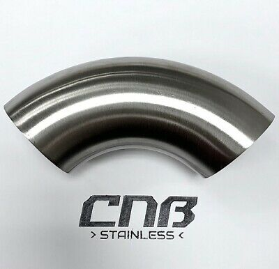 90 Degree 3A Short Elbow Stainless Steel Dull Polish Pipe Bend Exhaust 316 • 15.79£