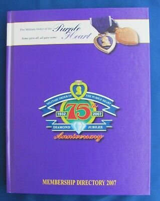 $11.95 • Buy The Military Order Of The Purple Heart Membership Directory 2007