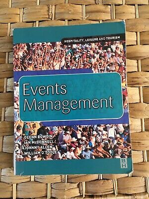 £10 • Buy Events Management, Bowdin. Hospitality, Leisure And Tourism