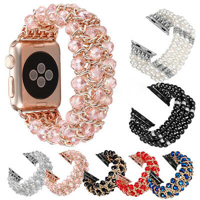 $ CDN17.99 • Buy Beads Replacement Band Strap Bracelet For Apple Watch IWatch Series 6 5 4 3 2 1