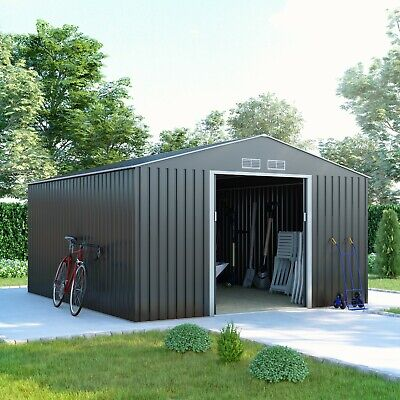 Metal Garden Storage Shed - Ranger Apex Galvanised Heavy Duty Steel Tool Store • 329£