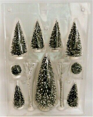$6.99 • Buy 14 Bottle Brush Trees 2 Spindle Birch Trees And 3 Plastic Fur Trees