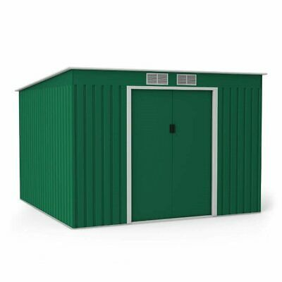 Metal Shed Garden Storage - Cargo Pent Galvanised Outdoor Heavy-Duty Steel Shed • 245£