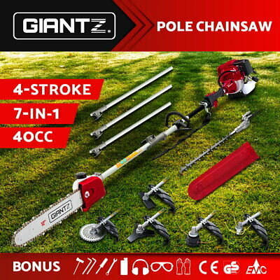 AU288.95 • Buy Giantz 4-STROKE Pole Chainsaw Brush Cutter Hedge Trimmer Saw Multi Tool
