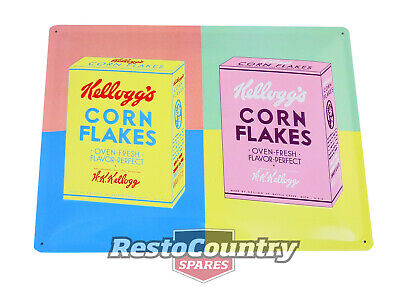 £21.76 • Buy Kelloggs Packaging Pop Art Embossed Retro Tin Sign 30x40 Shed Cereal Corn Flakes