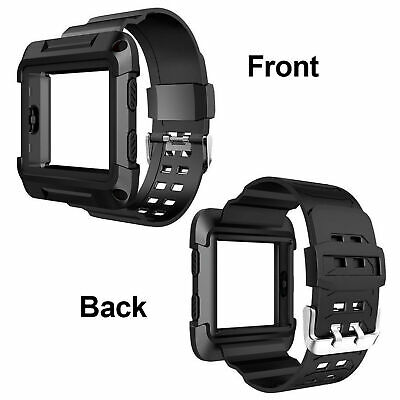 AU9.94 • Buy Black Armor Replacement Large Wristband Watch Band Strap+Frame For Fitbit Blaze