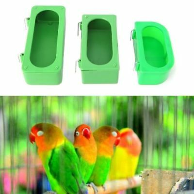 Pet Bird Water Bath Tub For Bird Parrots Cage Hanging Bowl Parakeet Birdbath • 3.95£