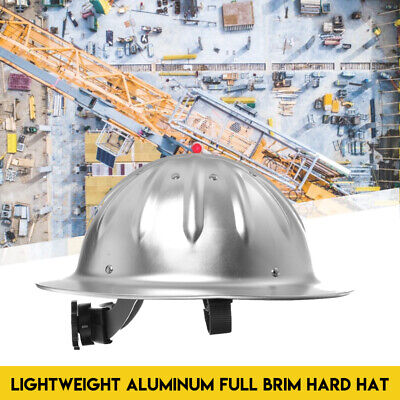 Full Brim Construction Hard Hat Safety Helmet Protection Lightweight Aluminum • 22.37$