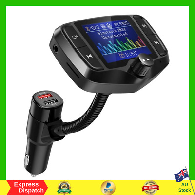 AU37.99 • Buy Nulaxy KM29 Car Bluetooth FM Transmitter 1.8  Color Screen With Battery Reading