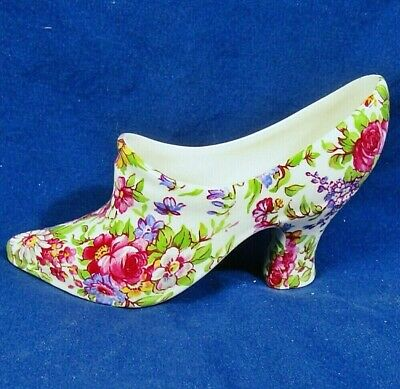 $ CDN38.74 • Buy Rare Royal Winton Grimwades 'Summertime' Chintz High Heeled Shoe Exc Cond