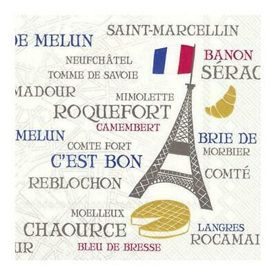 French Kitchen Paper Napkins Lunch BBQ Party Disposable Serviettes Tableware • 6.45£