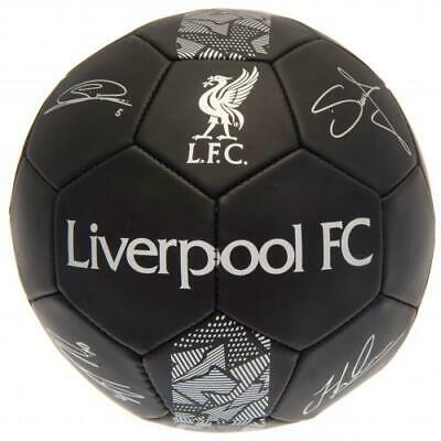 Official Liverpool Fc Football Size 5 Ball Printed Signatures Signed Black PH • 12.99£