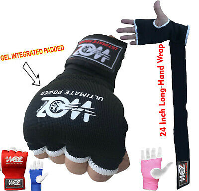 AU10.99 • Buy Fist Gel Bandages MMA Boxing Inner Quick Hand Wraps Gloves Straps Muay Thai