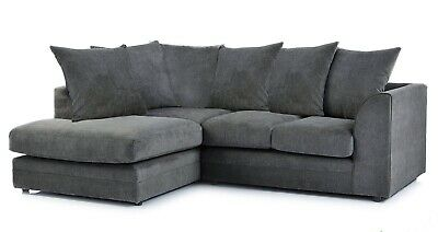 *** BRAND NEW*** Fern Modern Grey Beige Fabric Corner Sofa Cheap LEFT & RIGHT  • 459£