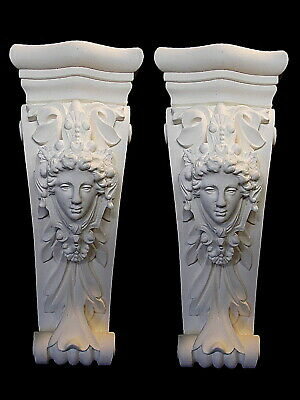 £80 • Buy One Pair Of Decorative White Corbels Brackets Shelf Supports French Ornate Style