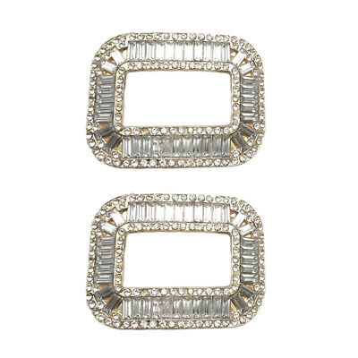 £3.86 • Buy 1 Pair Rhinestone Crystal Shoe Buckle Shoe Clips For Wedding Shoes Decor