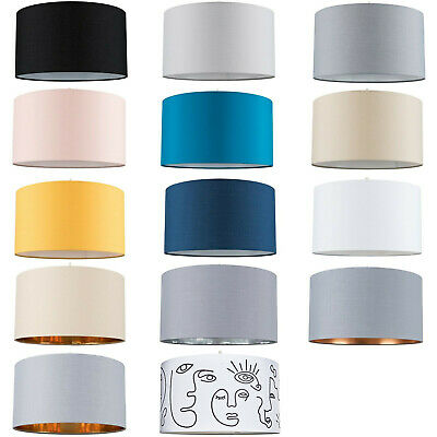 £19.99 • Buy Easy Fit Pendant Light Shade 35cm Fabric Drum Lampshade Table Lamp / Ceiling