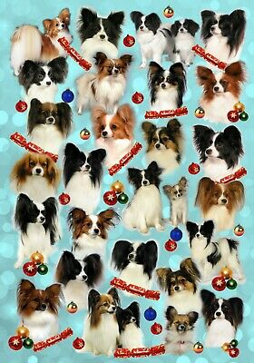 £2.50 • Buy Papillon (Butterfly Dog) Christmas Paper - By Starprint - Auto Combined Postage