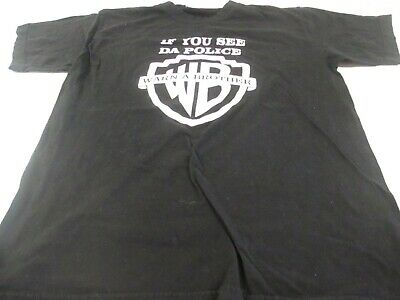 VTG 90s  If You See Da Police Warn A Brother  Bootleg T Shirt Tagged Ideal M • 35.76£