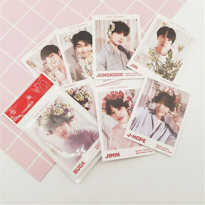 Kpop BTS Magazine Polaroid Lomo Cards Suga V HD Photocard Poster 7pcs Perfect • 3.99£