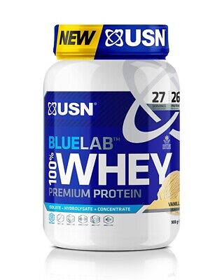 £28.99 • Buy USN Blue Lab 100% Whey Protein Powder Isolate & Hydrolysate Muscle Growth 908gm