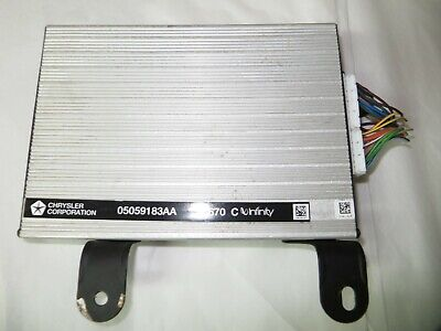 $94.45 • Buy Chrysler Sebring Dodge Stratus INFINITY AMP Amplifier 05059183AA 63K - OEM