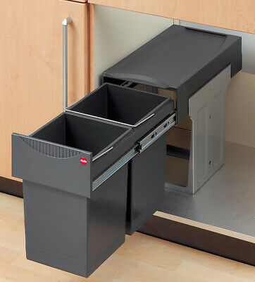 Hailo Tandem Pull Out Waste Bin Ideal For Under Sink Use, With Two 15ltr Inserts • 121.96£