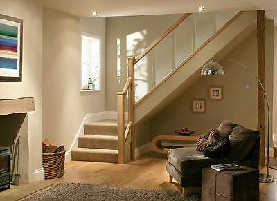 Solutions Contemporary Stair Refurbishing Kit Glass Panels With Oak / Pine Rails • 135£