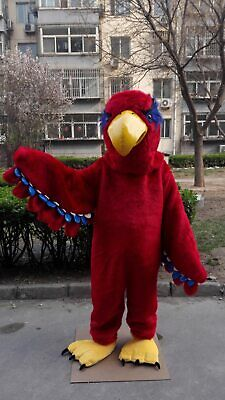 Red Eagle Mascot Costume Anime Halloween Cosplay Mascotte Theme Dress Adult Size • 259.58£