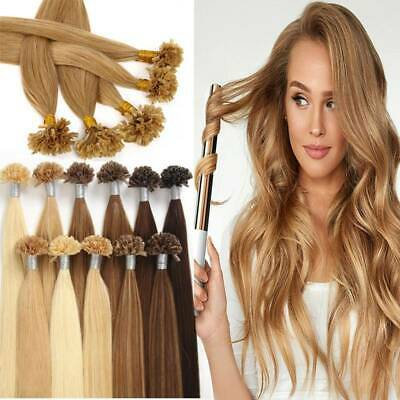 $21.63 • Buy U Nail Tip Pre Bonded Keratin Real Remy Human Hair Extensions Thick US Stock L6