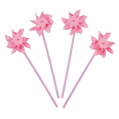 Pink Pinwheels 36 Pack 12  Tall Birthday Party Favors Pool Parties Luau Baby • 11.36£