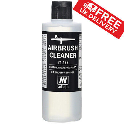Airbrush Cleaner 200ml Acrylic Paint Waterbased Vallejo Model Air Non-Toxic NEW • 9.68£