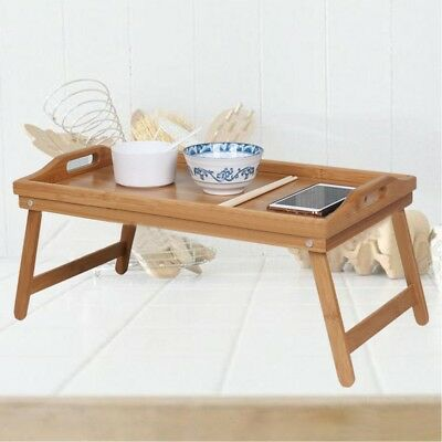 $15.97 • Buy Bamboo Folding Breakfast Bed Tray Laptop Notebook Portable Serving Table Desk