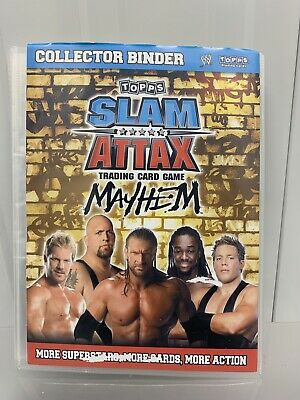 Topps WWE Slam Attax Binder - Mayhem, Evolution, Champions - 4 Sets - 300+ Cards • 30£