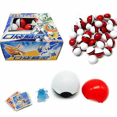 Cute 36pcs Red Pokemon Go Pokeball Pop-up Ball & Mini Monsters Figures Kids Toy • 9.59£