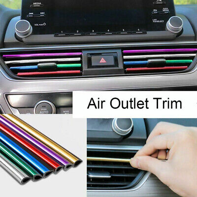 $2.36 • Buy 10x Car Accessories Air Conditioner Air Outlet Decoration Strip Decor Universal