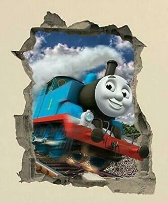 Thomas The Tank Engine In Crack Wall Sticker Decal Decor Home Kids Bedroom • 3.99£