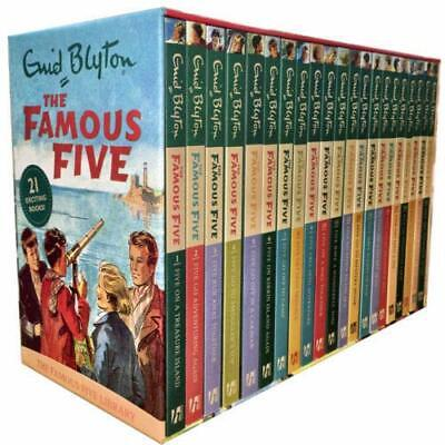Famous Five Series 21 Books Collection Set By Enid Blyton Fiction Paperback NEW • 28.69£