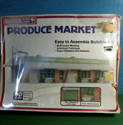 $ CDN31.57 • Buy Produce Market Life-Like HO Scale FACTORY SEALED Model Train Track Building Kit
