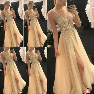 £20.86 • Buy Women Formal Bridesmaid Dresses Wedding Party Ball Prom Gown Long Cocktail Dress