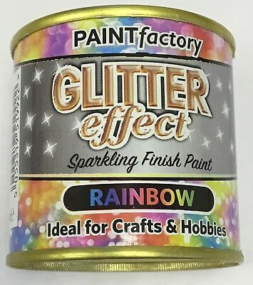 2 X Glitter Effect Rainbow Sparkling Finish Paint 125ml Can!! Craft And Hobbies • 5.99£